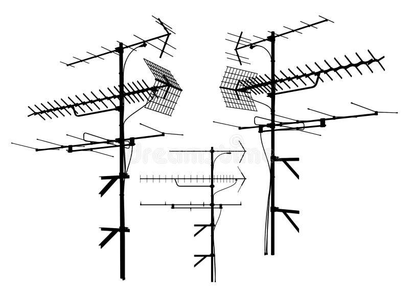 Vector 01 van de antenne royalty-vrije illustratie