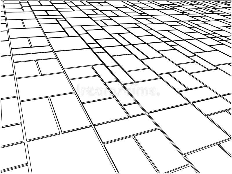 Vector 12 van de Vloer van de tegel vector illustratie
