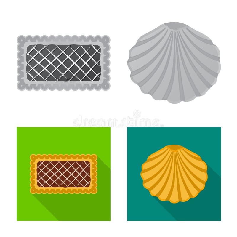 Дизайн вектора печенья и испечь символ Собрание иллюстрации вектора запаса печенья и шоколада бесплатная иллюстрация