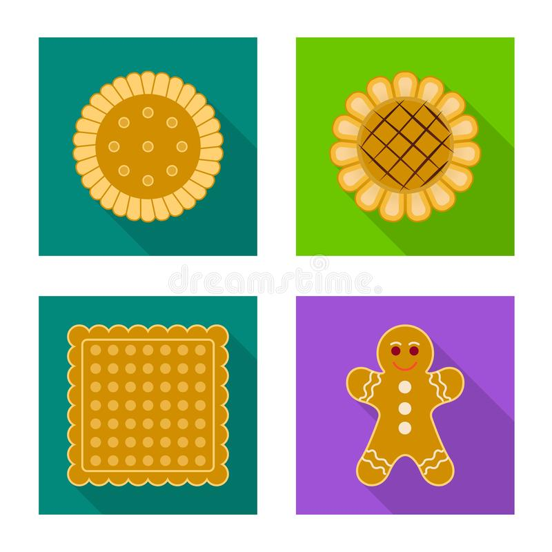 Дизайн вектора печенья и испечь символ Установите значка вектора печенья и шоколада для запаса иллюстрация вектора