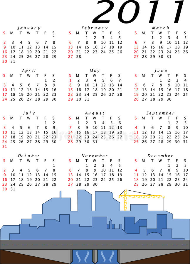 Download Vector 2011 Engineering And Construction Calendar Stock Vector - Image: 16221749