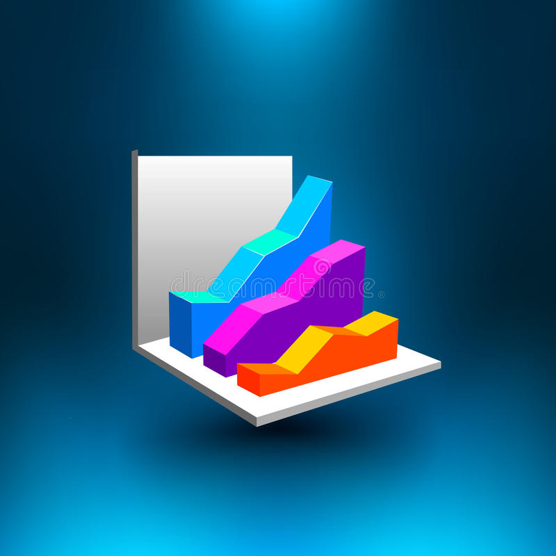 Vector 3D Diagram. EPS 10 file available stock illustration