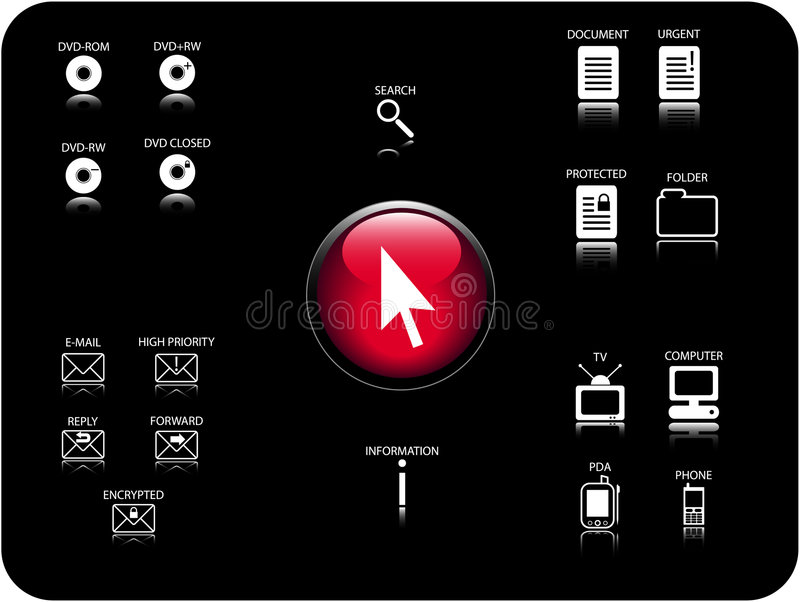 Download Vector 3D icons stock vector. Image of internet, handphone - 1635988