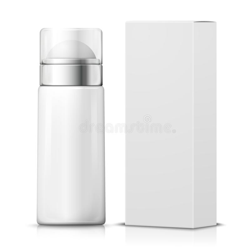 Free Vector 3d Realistic Deodorant With Paper Box. Royalty Free Stock Photography - 118421127