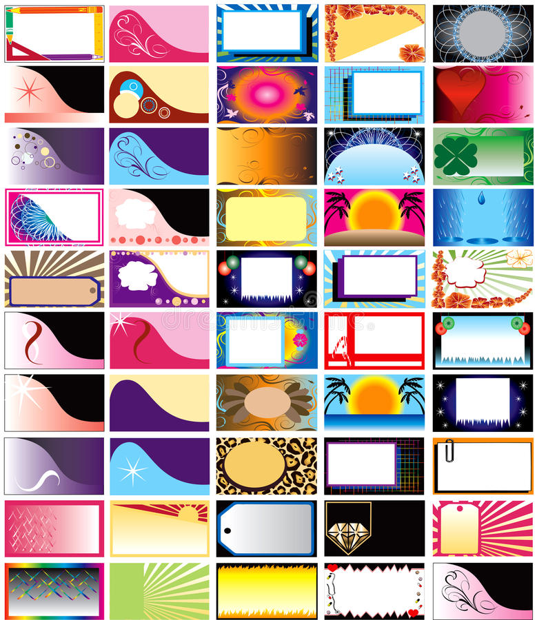 Download Vector 50 Horizontal Cards stock vector. Illustration of futuristic - 12649026