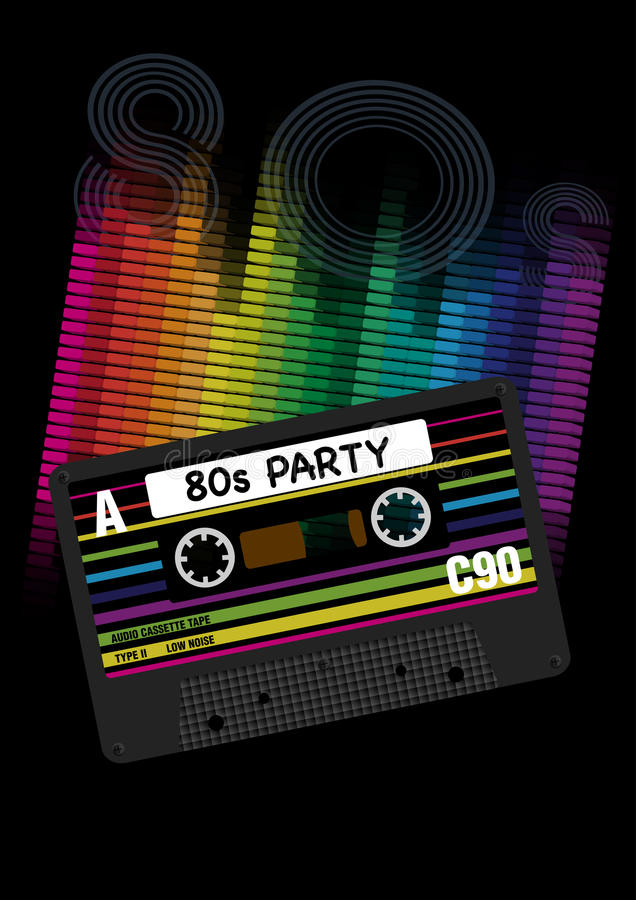 Free Vector 80s Party Background Stock Photography - 36275452