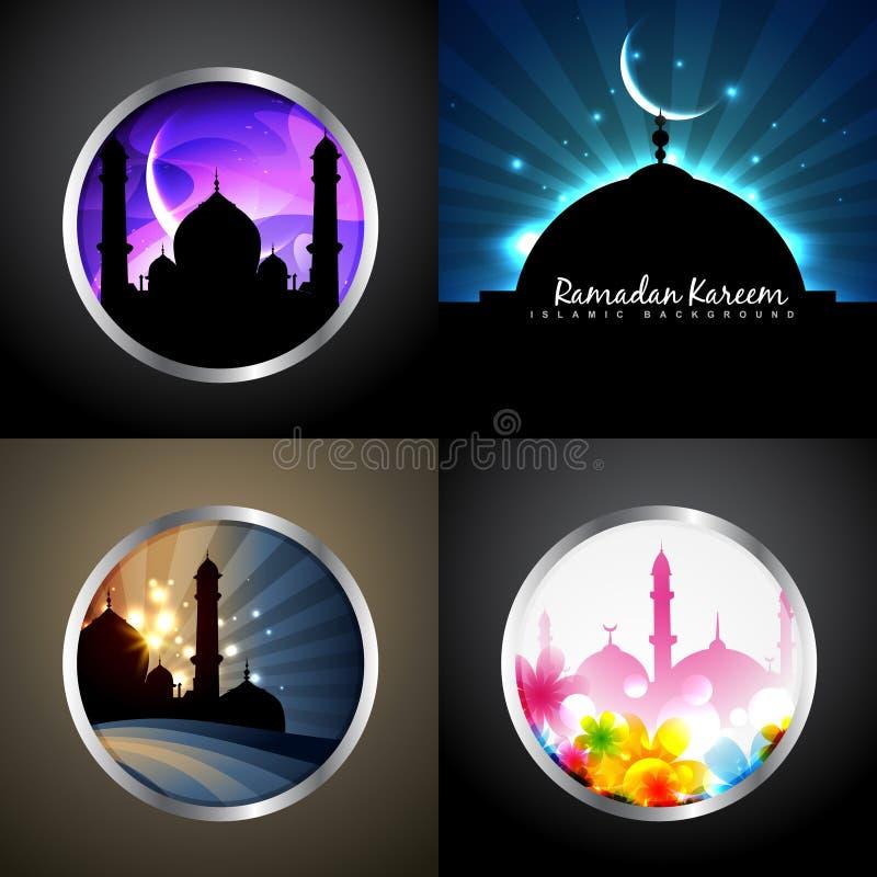 Vector aantrekkelijke reeks van ramadan van het kareemfestival illu als achtergrond