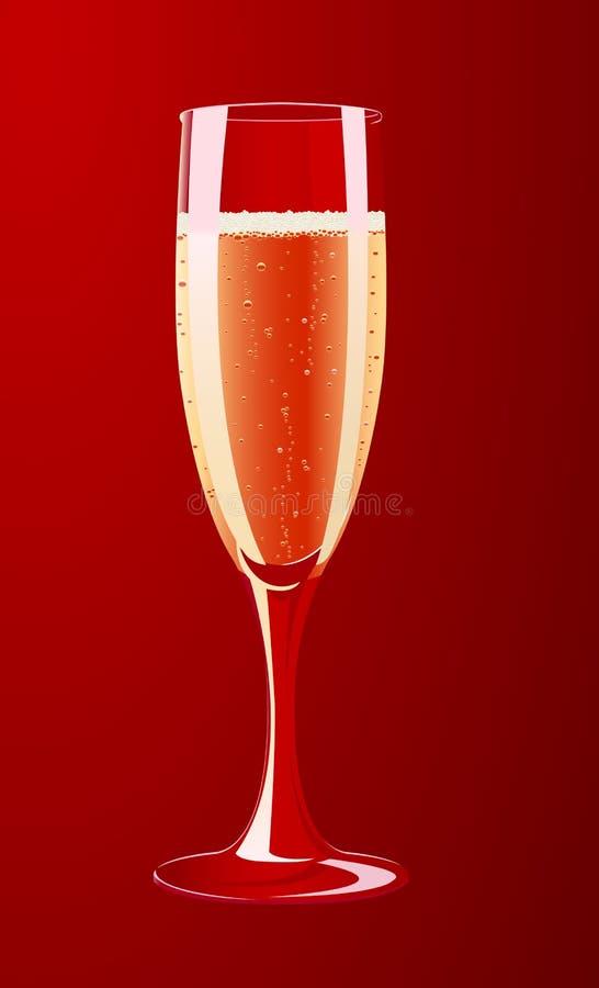 Vector Abbildung eines Champagnerglases stock abbildung