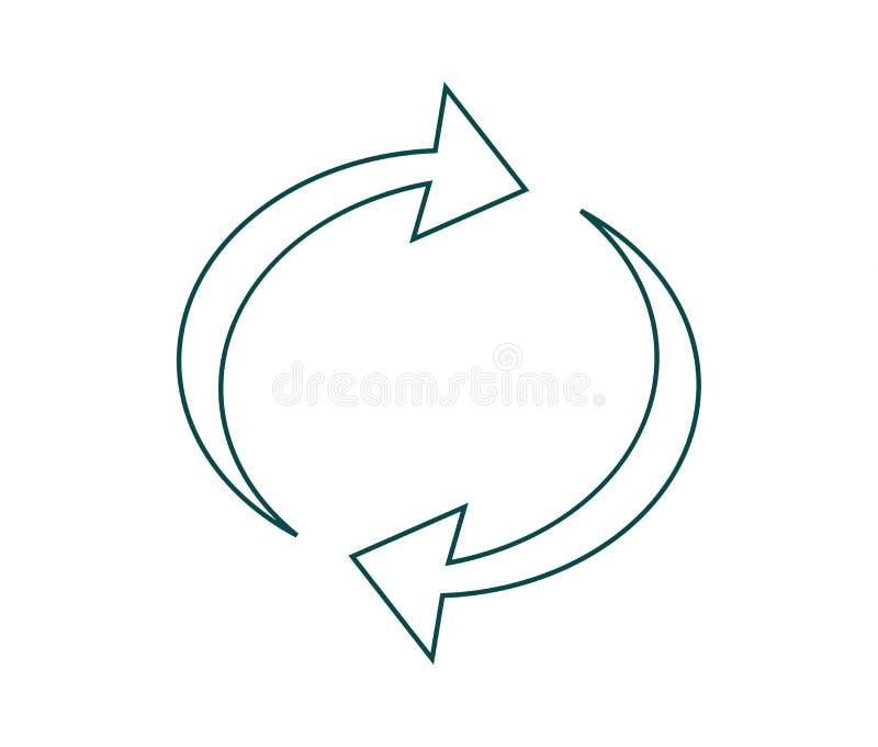 Vector Abbildung von aufbereiten Symbol stock abbildung