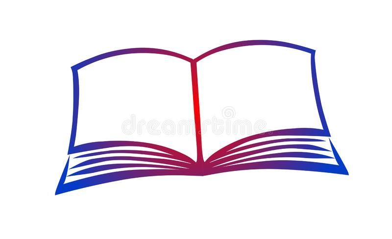 Vector abierto del icono del logotipo del ejemplo de libro stock de ilustración