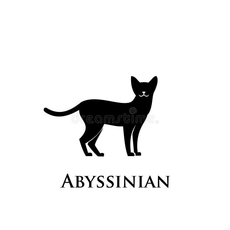 Vector abisinio de los diseños del icono del logotipo del gato ilustración del vector