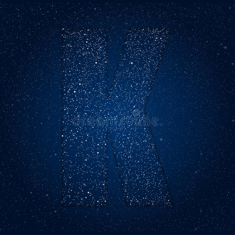 Vector abstract alphabet of stars. The starry sky. vector illustration