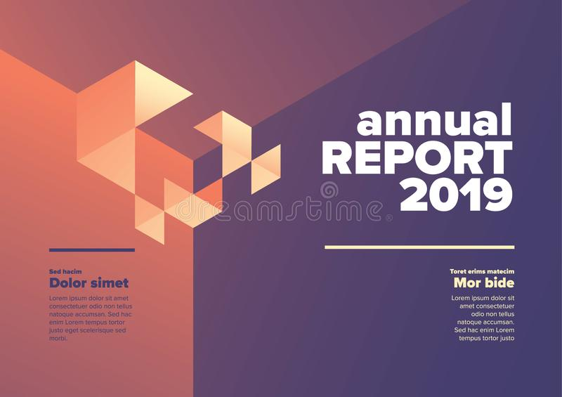 Annual report cover template stock images