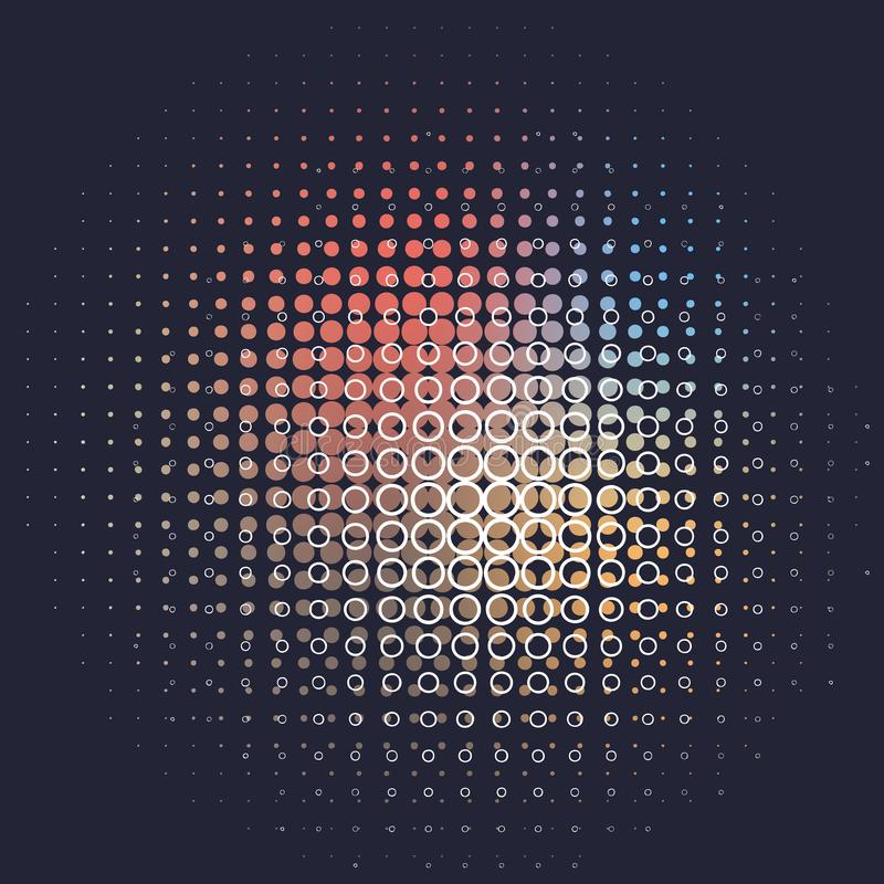 Vector abstract background, black and rainbow colors vector illustration