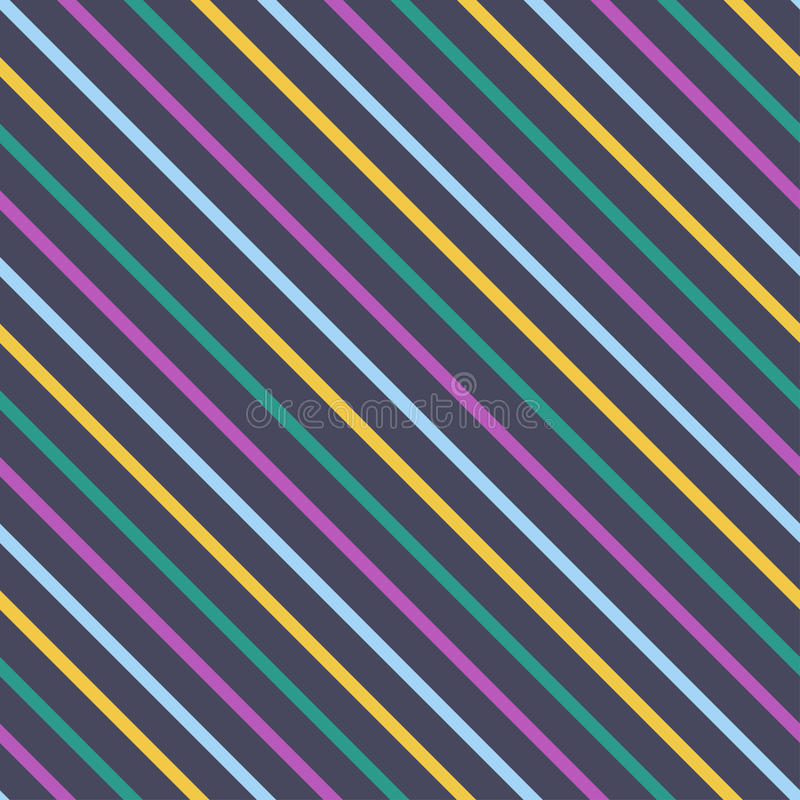 Vector abstract background with diagonal stripes. Endless texture can be used for printing onto fabric, paper or scrap booking, wallpaper, pattern fills, web royalty free illustration