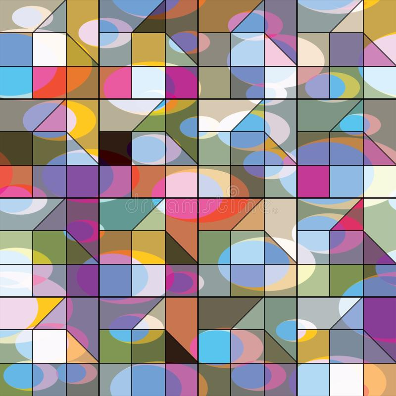 Vector Abstract geometric shapes. Vector Abstract background from geometric shapes. Stained glass window royalty free illustration