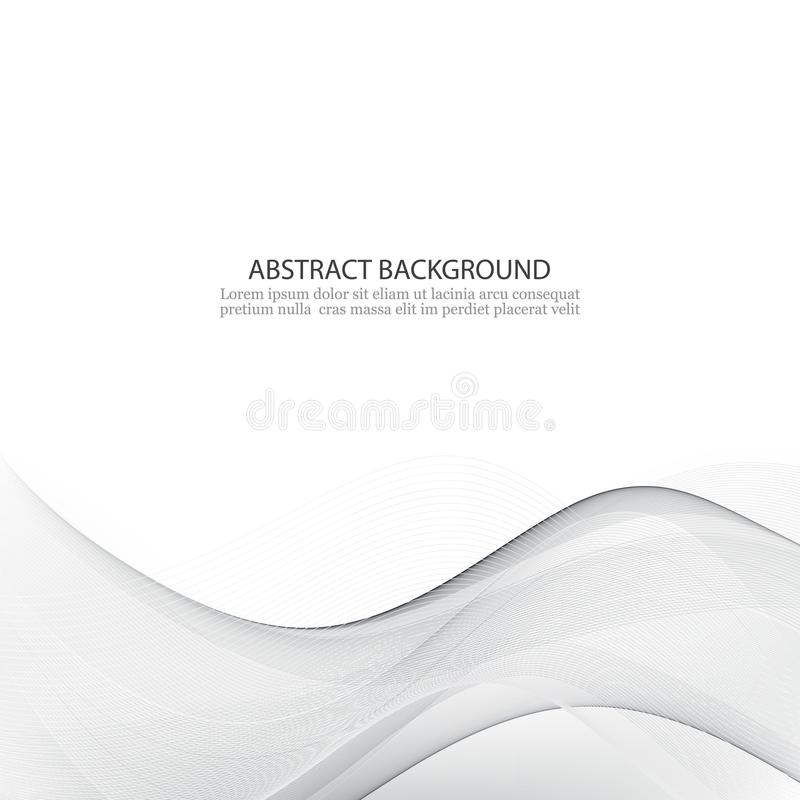 Vector abstract background The gray wave of smoke stock illustration