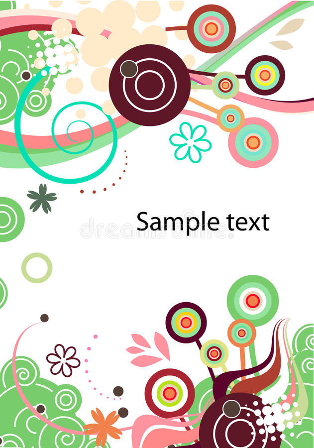 Vector abstract background in green
