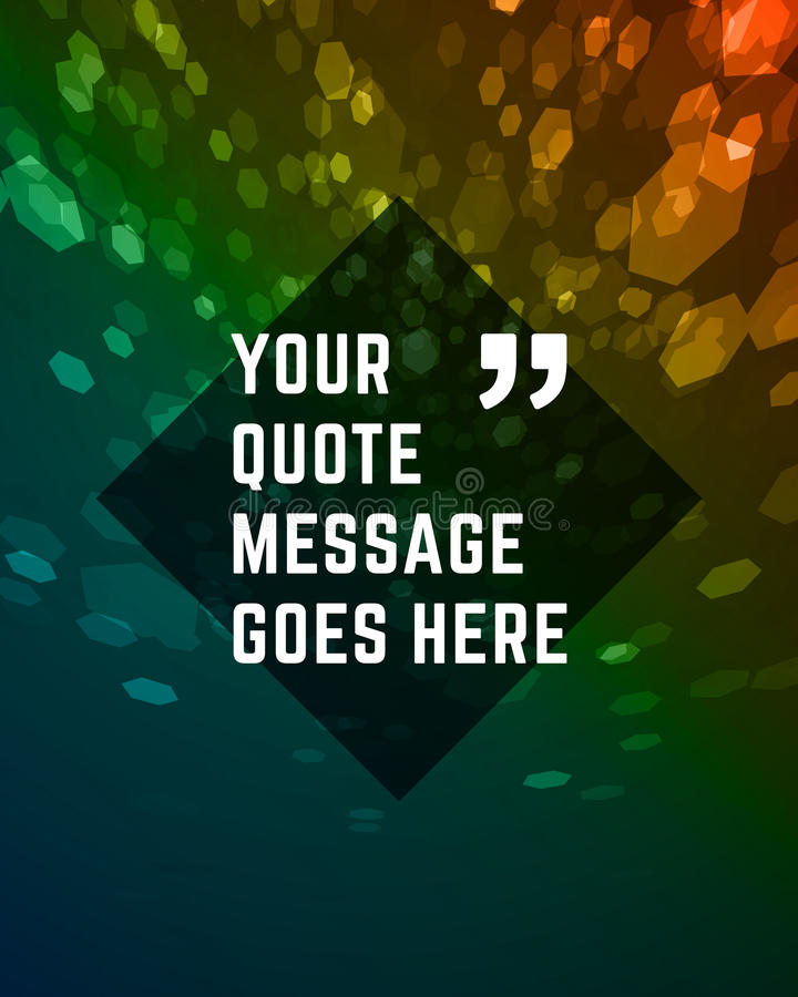 Vector abstract background and place for Quote stock illustration