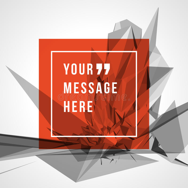 Vector abstract background and place for Quote royalty free illustration
