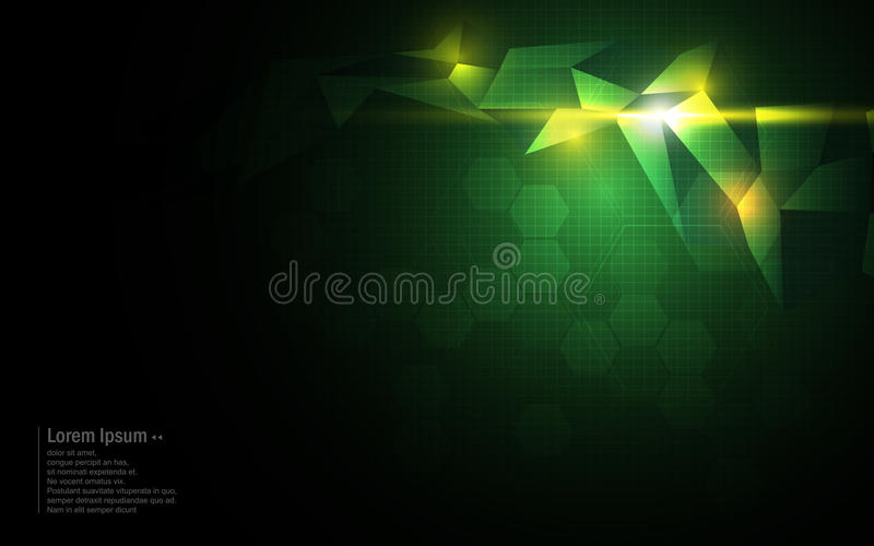 Vector abstract background polygonal pattern tech innovation concept stock illustration