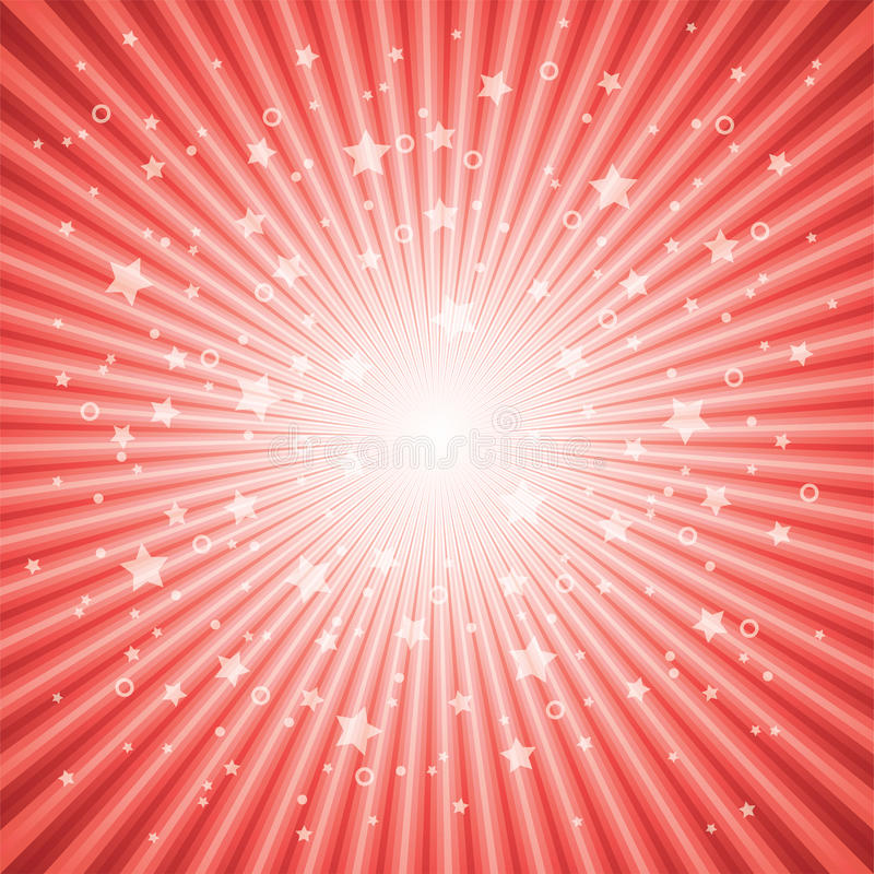 Download Vector Abstract Background Of Red Star Burst Stock Vector - Image: 24071860
