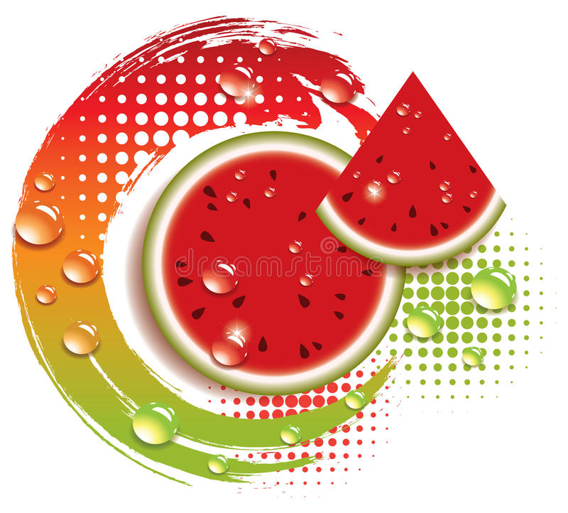 Download Vector Abstract Background With Watermelon Stock Photo - Image: 23929370