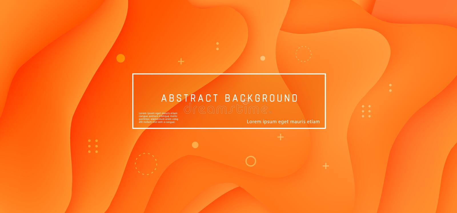 Vector abstract background wave motion flow orange royalty free illustration