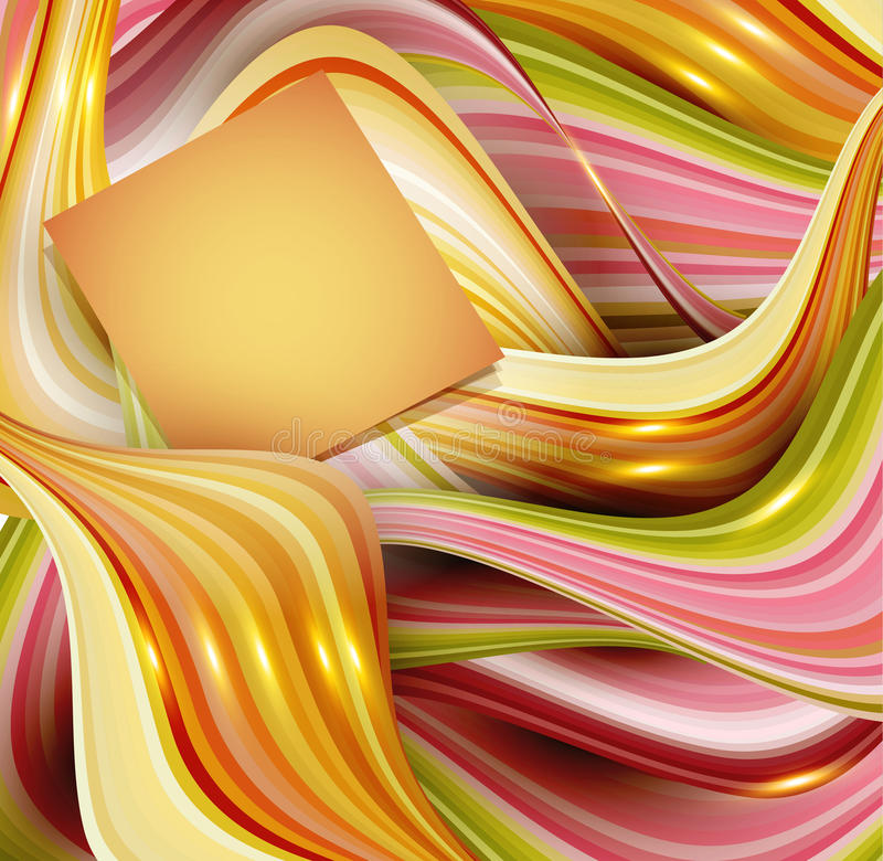 Vector abstract background with waves and place for your text royalty free illustration