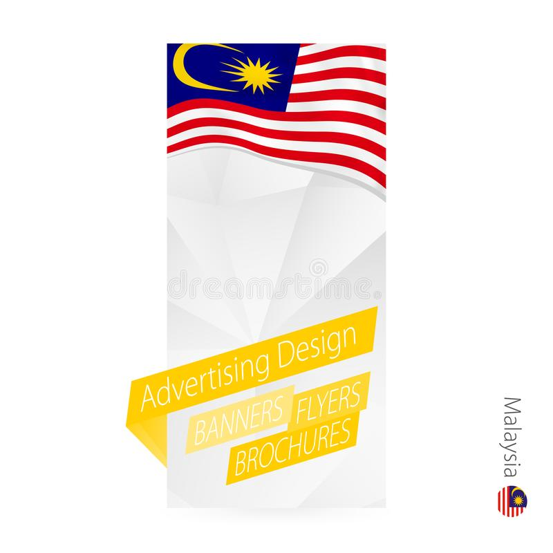 Vector abstract banner template for Malaysia vector illustration