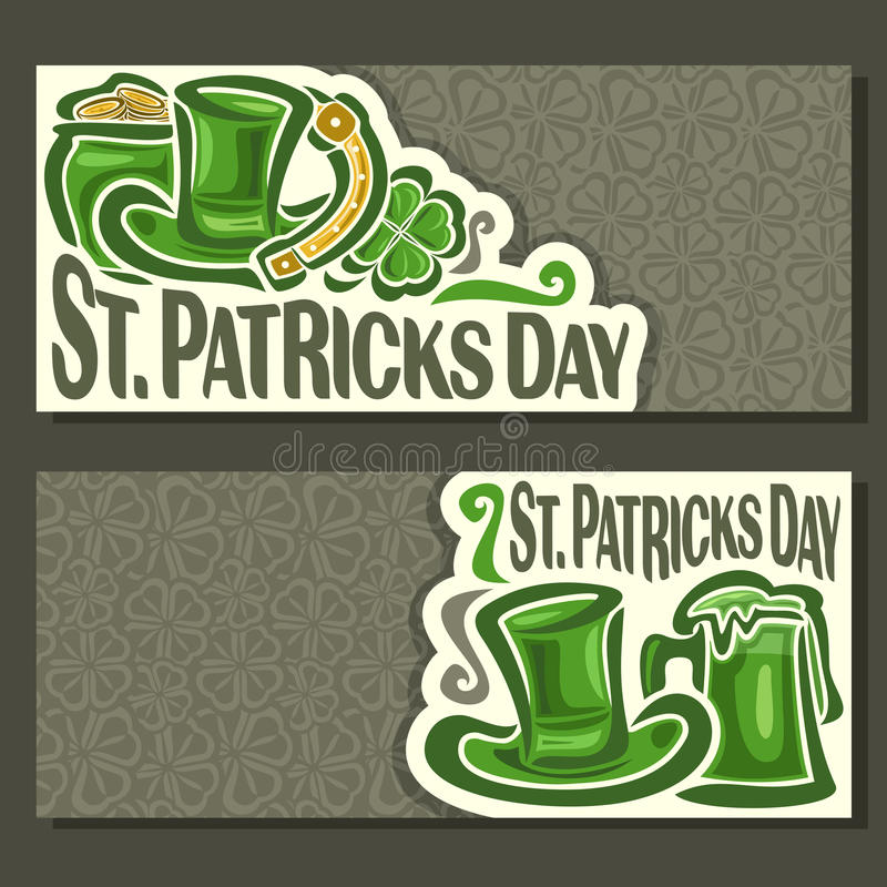 Vector abstract Banners for St. Patrick`s Day royalty free illustration