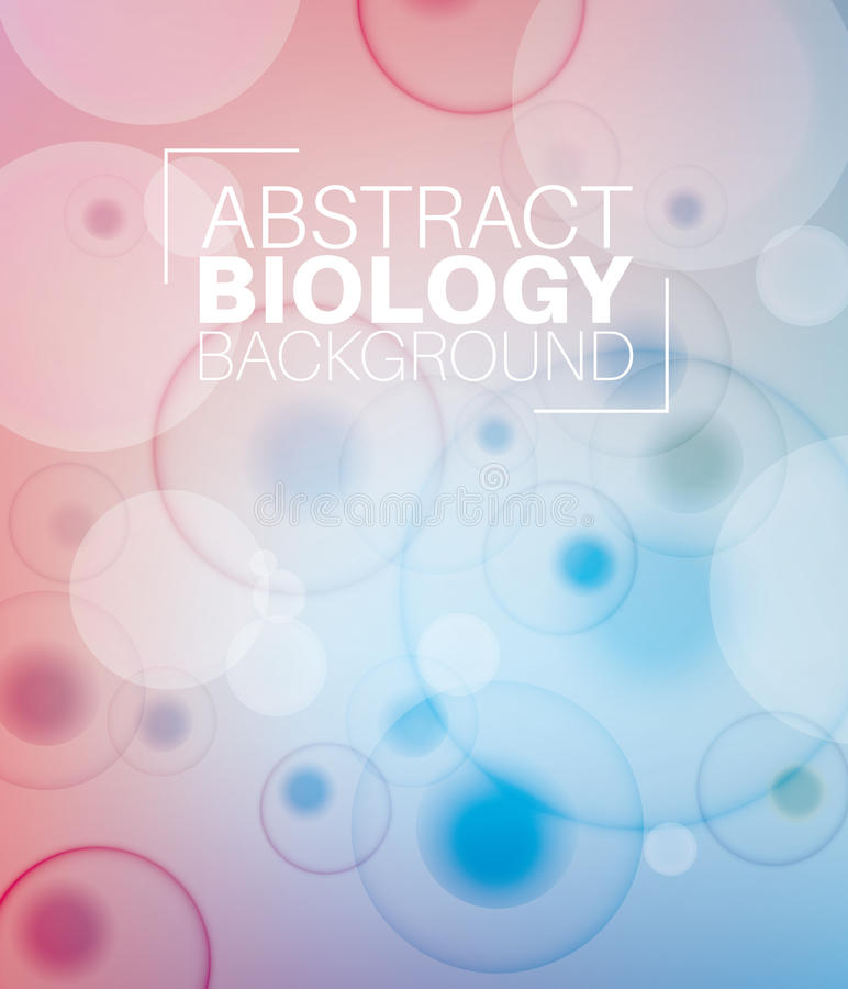 Vector Abstract biology background vector illustration