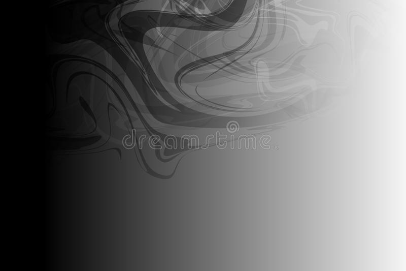 Vector abstract black and grey shaded wavy background, wallpaper stock illustration