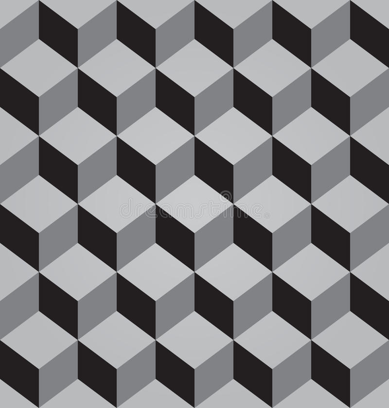 Free Vector Abstract Black Seamless Pattern Made From Stacked Cubes Stock Photography - 39573342