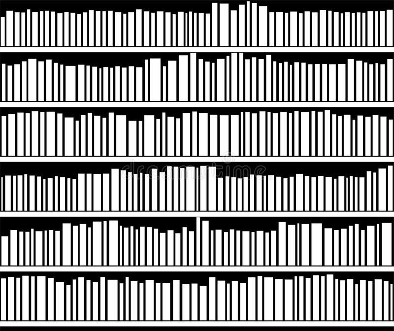 vector abstract black and white bookshelf stock illustration