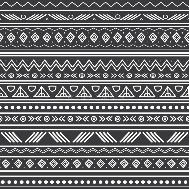 vector abstract black and white tribal stripes seamless