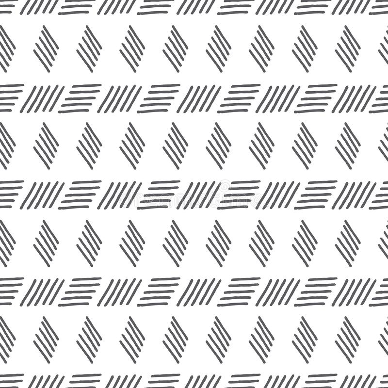 Vector abstract black and white tribal stripes vector illustration