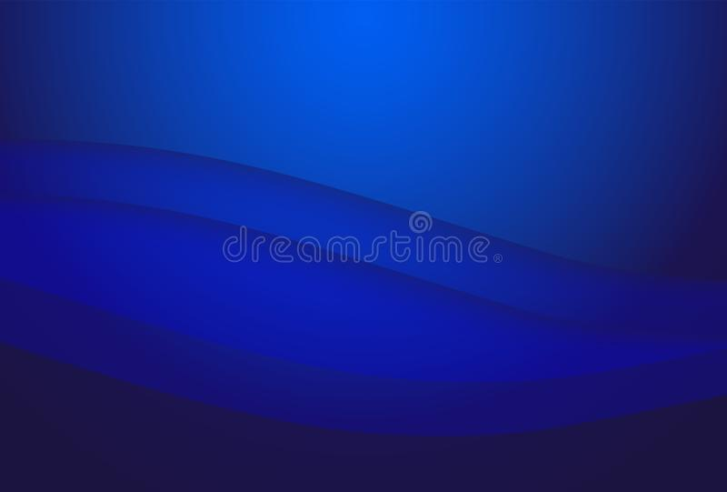 Vector abstract blue black  color geometric wavy background, wallpaper for any design. vector illustration