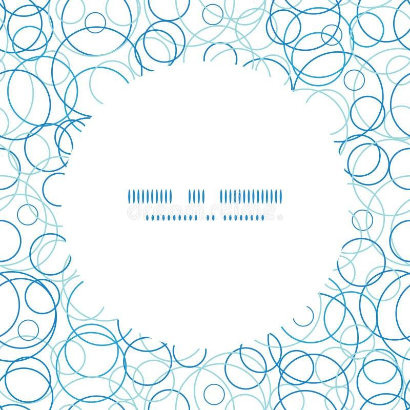 Free Vector Abstract Blue Circles Circle Frame Seamless Royalty Free Stock Photo - 45177945