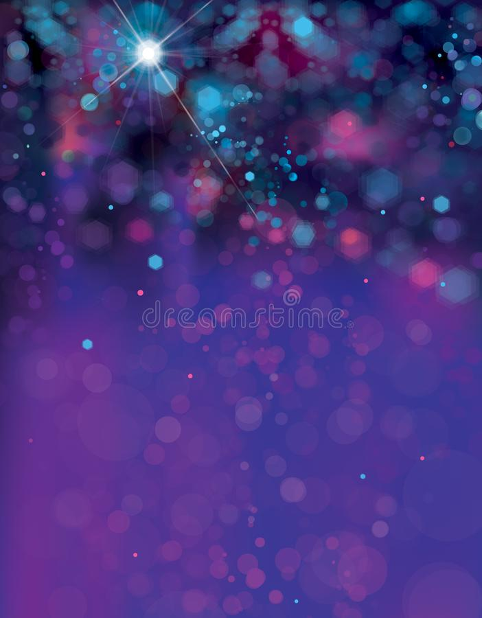 Vector abstract, blue sparkle background. stock illustration