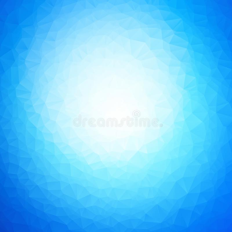 Vector abstract blue water triangles background. Modern style royalty free illustration