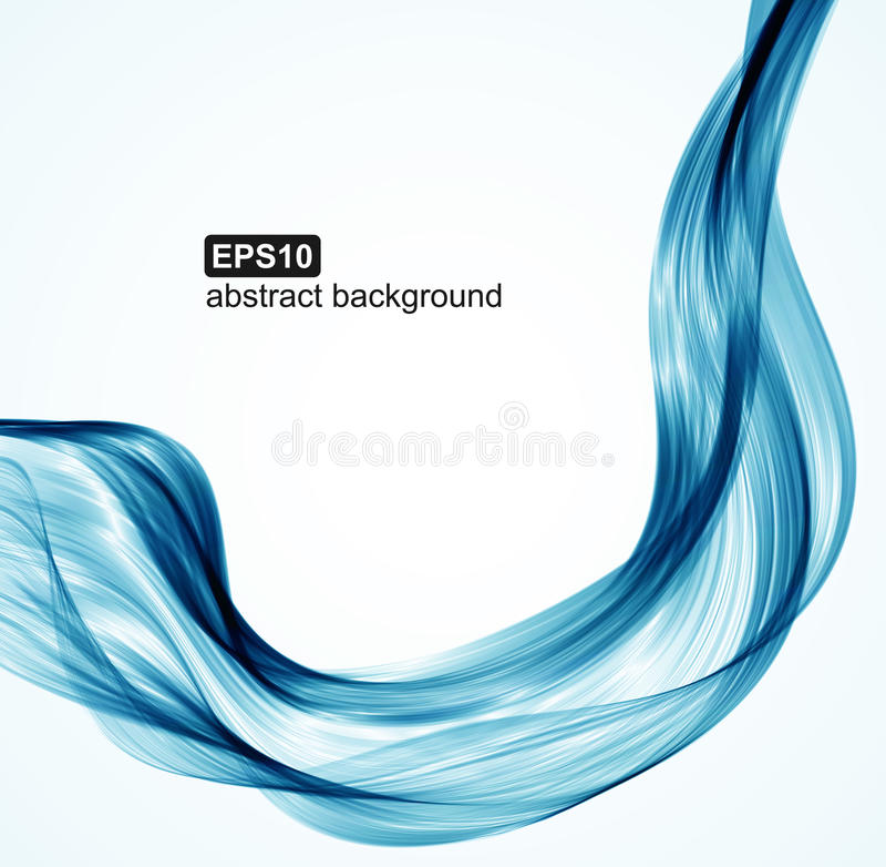 Vector abstract blue waves background stock illustration