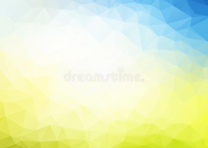 Vector abstract blue yellow background vector illustration