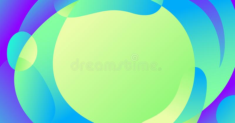 Slider template of fluid organic shapes. Liquid effect background. Vector abstract blur wave shapes in gradient iridescent colors effect soft transition. Slider royalty free illustration