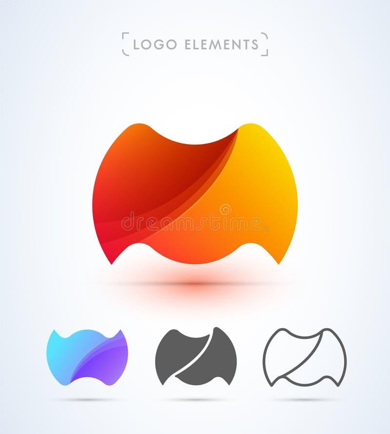 Vector abstract brievenm embleem vector illustratie