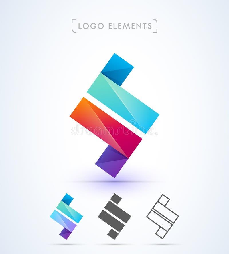 Vector abstract brievenz embleem vector illustratie