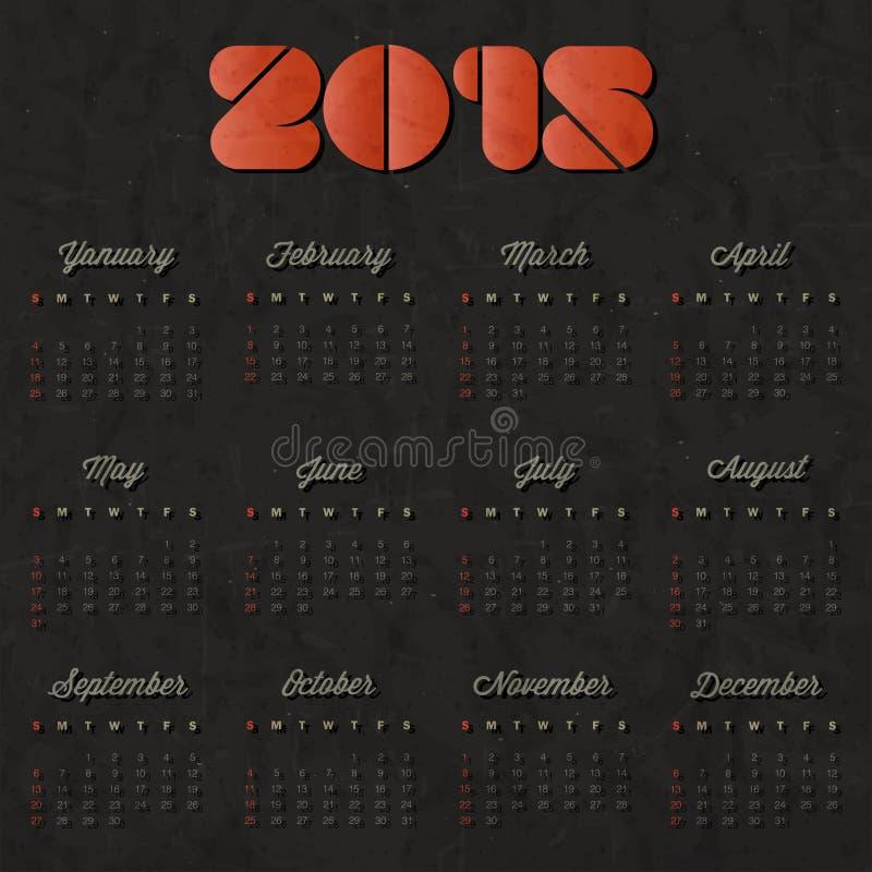 Vector Abstract Calendar 2015 Stock Vector Illustration Of August