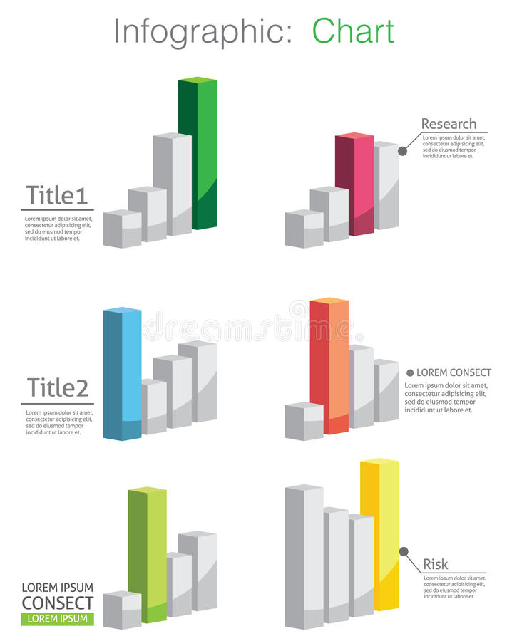 Vector of abstract chart and info-graphic royalty free illustration