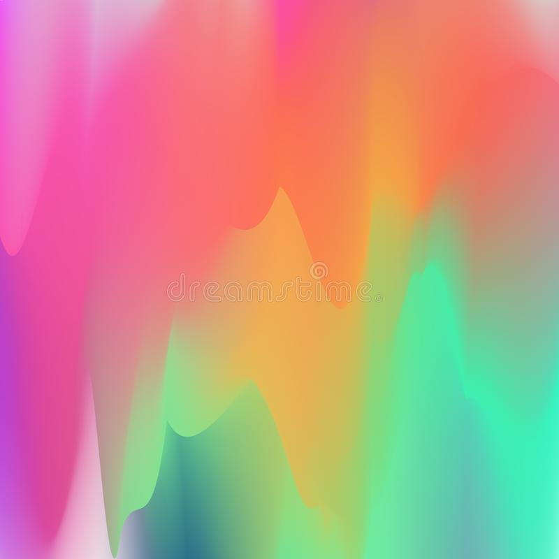 Vector abstract colorful background. Light flowing colors stock illustration