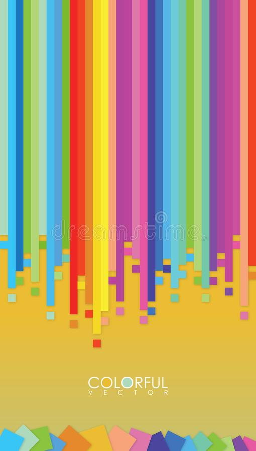Vector abstract colorful background for your best phone. royalty free illustration